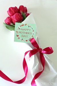 You can never go wrong with giving flowers!  Free Happy Mother's Day Printable to use with flowers or a gift