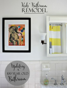 Kids' Bathroom Remodel - Updating a 100 year old Bathroom