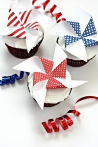 Printable Pinwheel Cupcakes