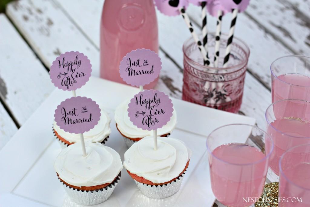 Printable Wedding Cupcake Toppers