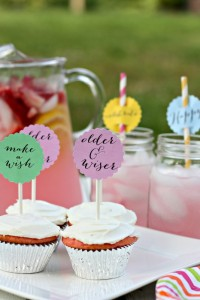Birthday Celebrations Cupcake & Drink Toppers