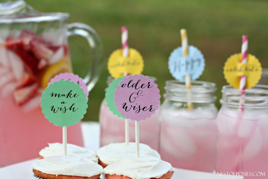 FREE Birthday Printables for your cupcakes or drinks