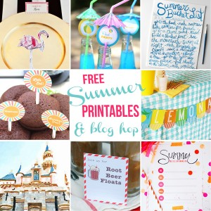 Free Summer printables and blog hop