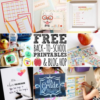 Back To School Free Printable Blog Hop