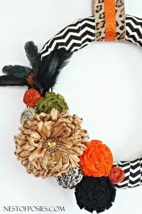 Chevron and Posie Fall Wreath + a Blog Hop