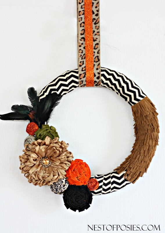 Fall Wreath.  My favorite trends all wrapped into one wreath.