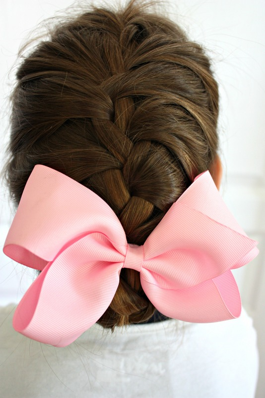 French Braid in a bun Back to School Hairstyle ideas for Girls