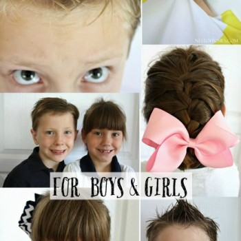 Fun Back to School Hairstyles for boys and girls