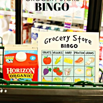 Grocery Store BINGO!  Fun learning activity for the kids while you shop.