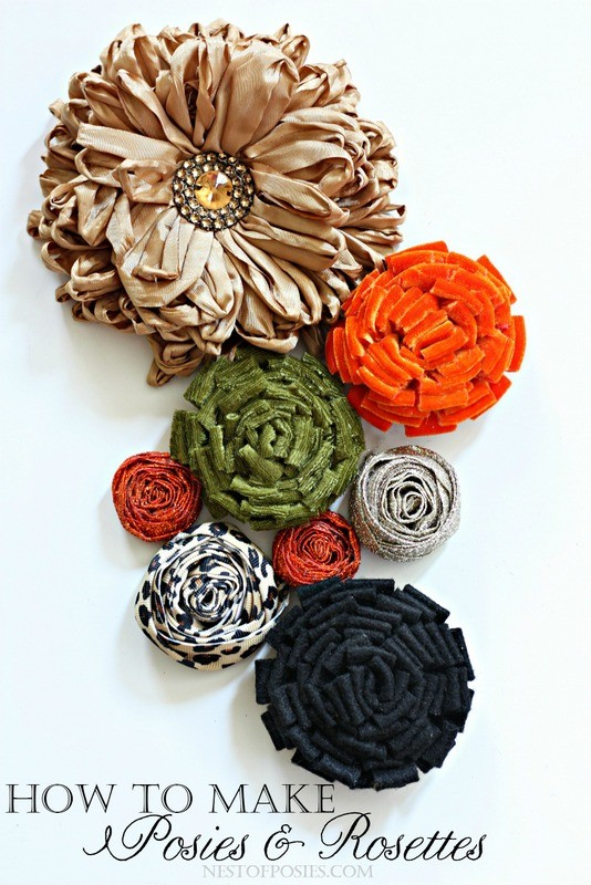 How to make Posies and Rosettes using Velvet, Felt and Ribbon