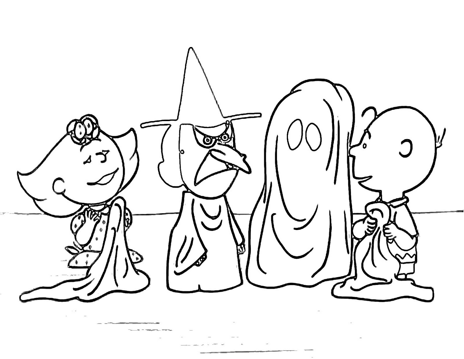 peanuts halloween coloring pages - halloween coloring pages
