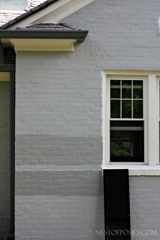 White Dove Painted Brick Exterior