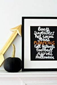 Favorite Fall Things Printable