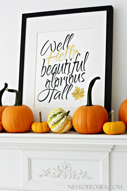 Free 11x14 Fall printable with Gold ink (cost 2.14 to print) at national chain store!