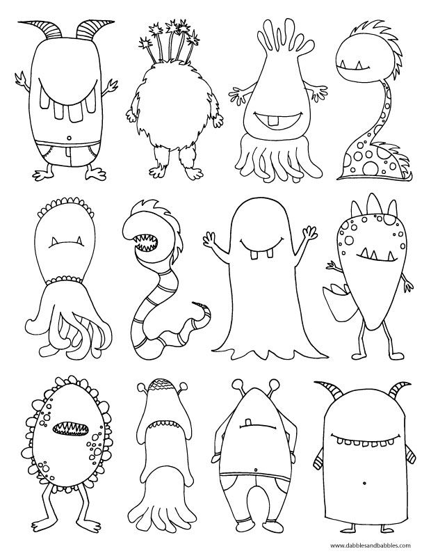 Halloween Coloring Pages Monsters : Halloween coloring pages