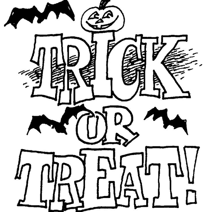 Halloween Coloring Pages Trick Or Treat Coloring Page