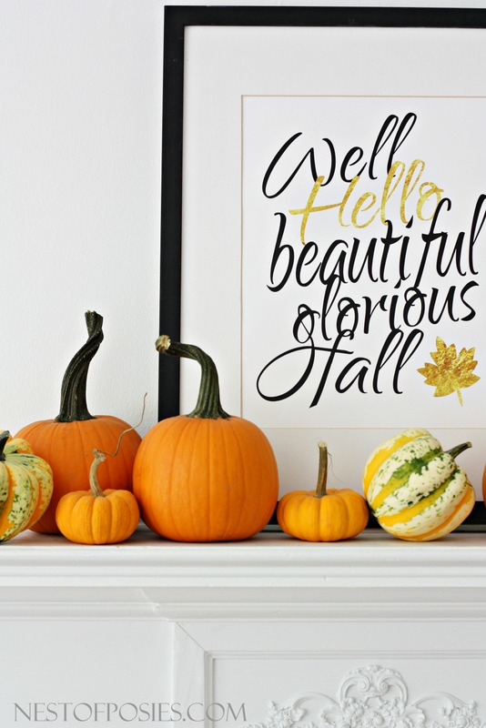 Well Hello beautiful glorious Fall free 11x14 printable