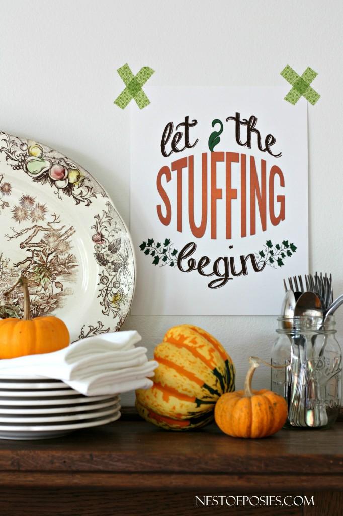 Let the Stuffing Begin - Thanksgiving Printable