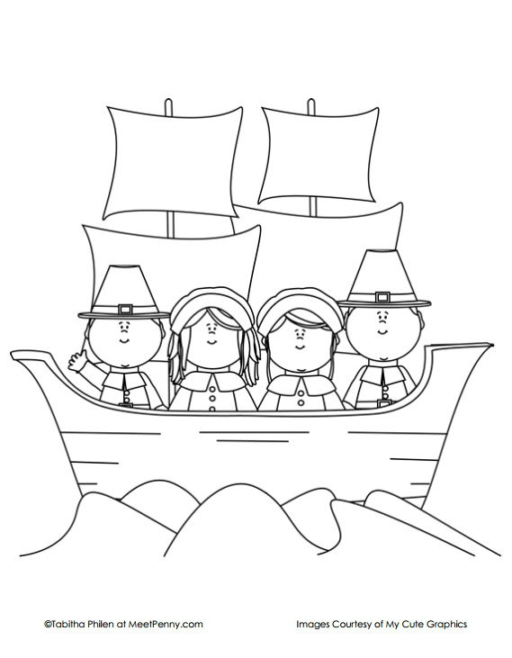 the mayflower coloring pages - photo#4
