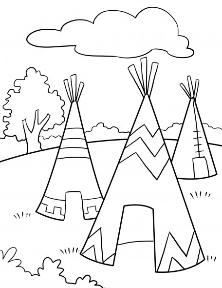 native american coloring pages for preschool | The Sweatman Family: November PreK Lesson Plans