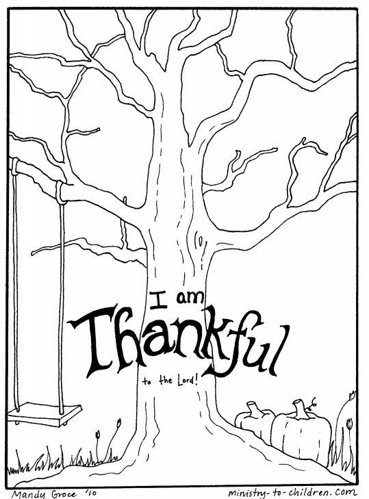 Thankful Tree Coloring Tree