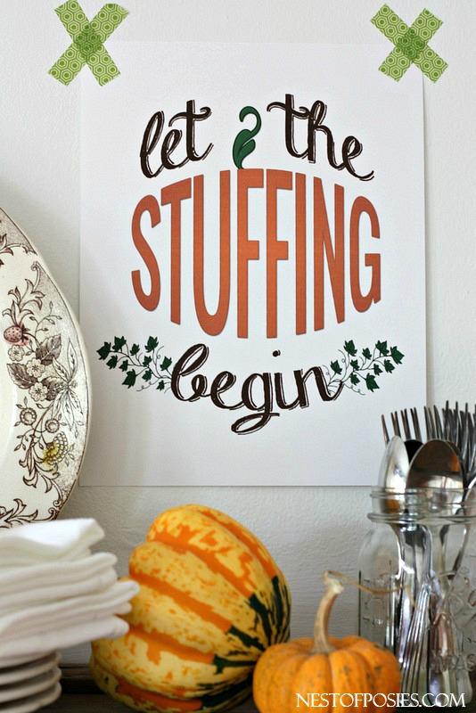 Thanksgiving Buffet Style Dinner Printable