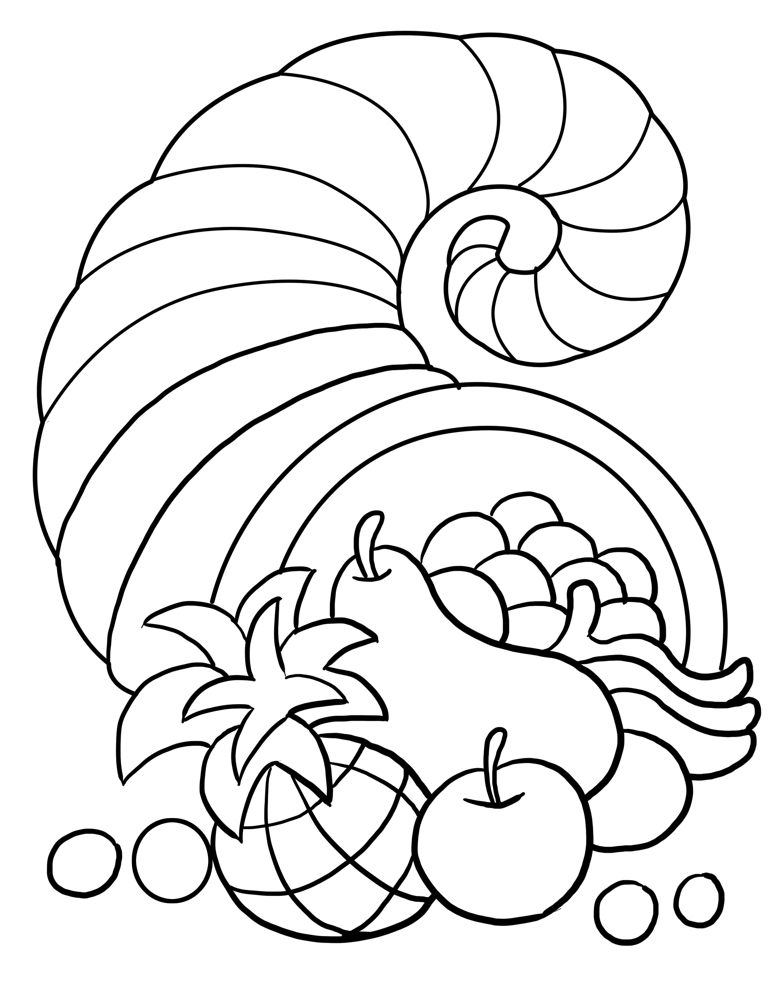 fall thanksgiving coloring pages - photo#16