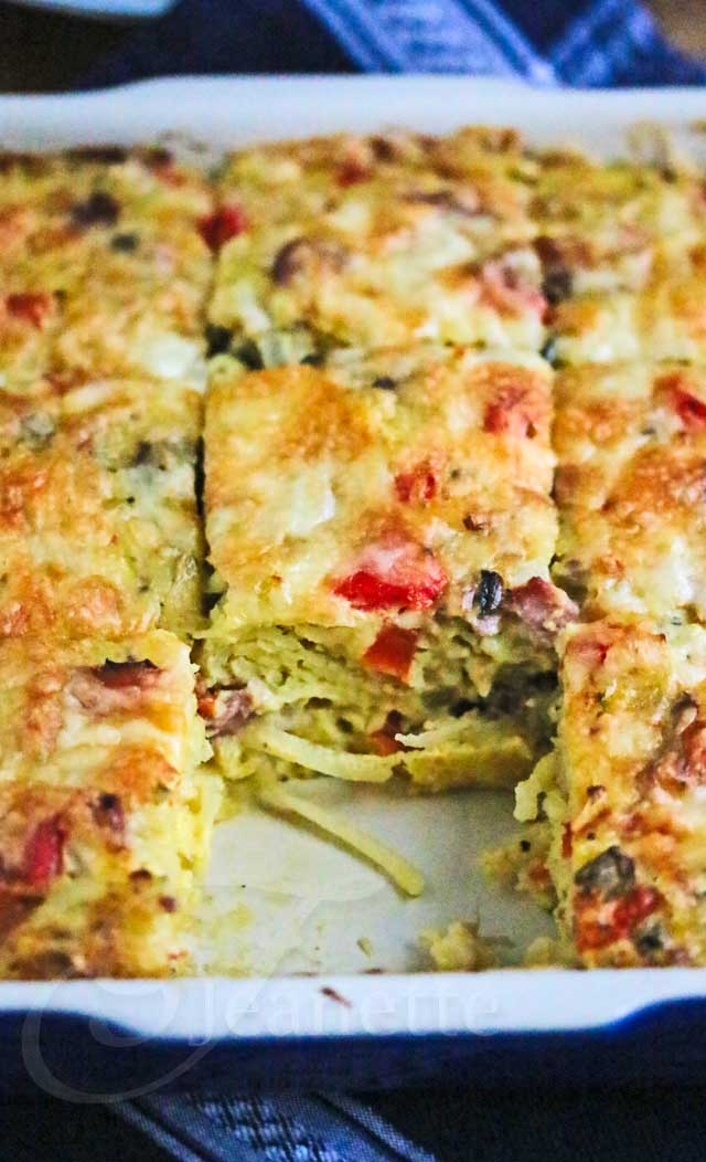 Healthy Bacon Egg Potato Breakfast Casserole