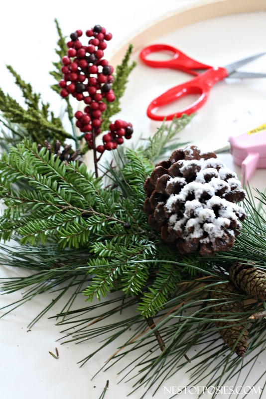 How to make a Christmas wreath with branches