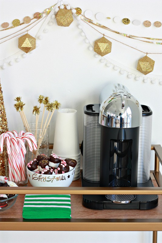 Make a festive coffee cart