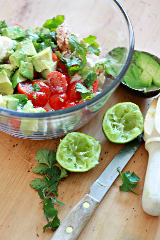 How to make Avocado Chicken Salad with lime & cilantro - YUMMY!