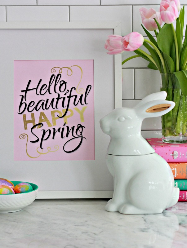 Hello Spring - Printable