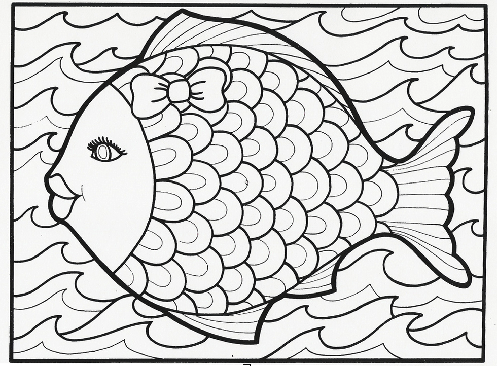 fish coloring page - Couloring Sheets