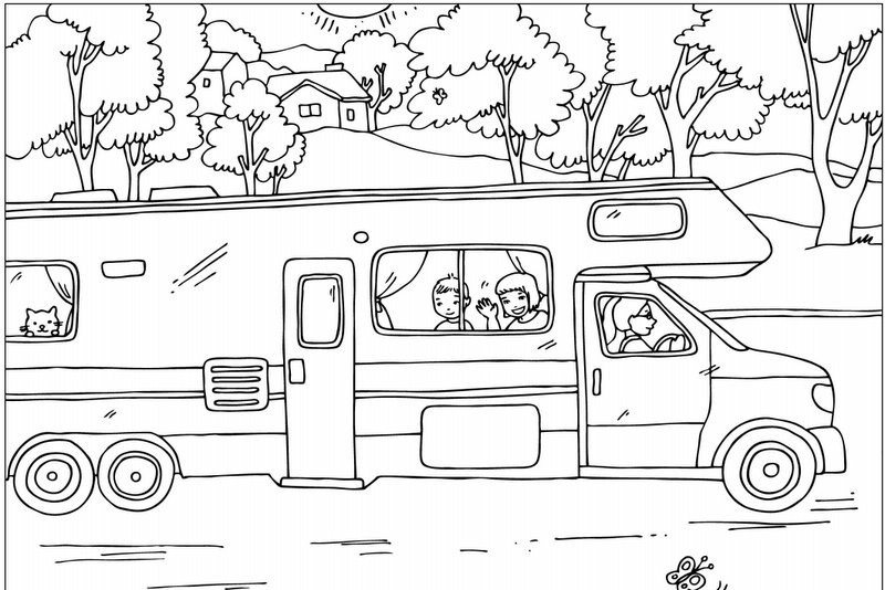 motorhome coloring pages - photo#9