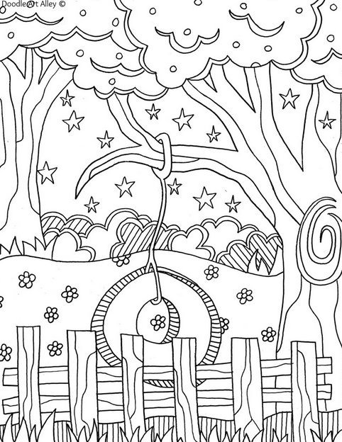 summer coloring book pages - photo#5