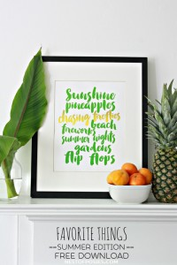 Summer Favorite Things Printable