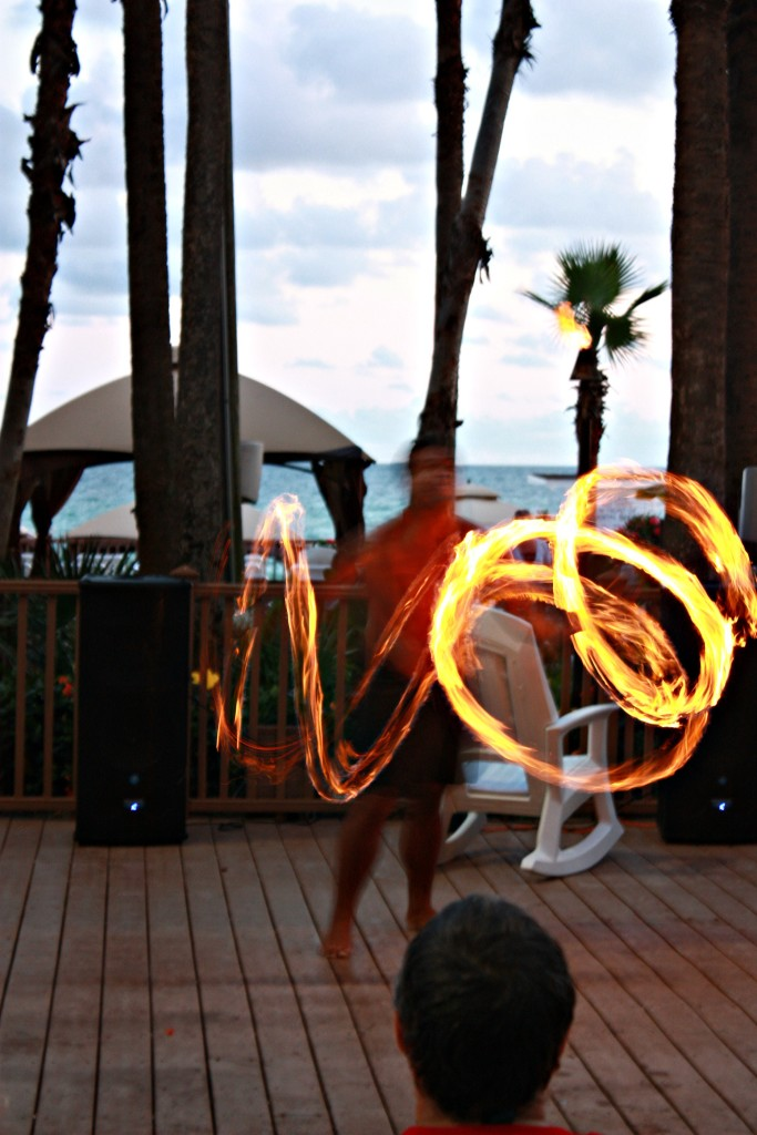 Fire Hawaiian Dancer at the Holiday Inn Resort in PCB, FL