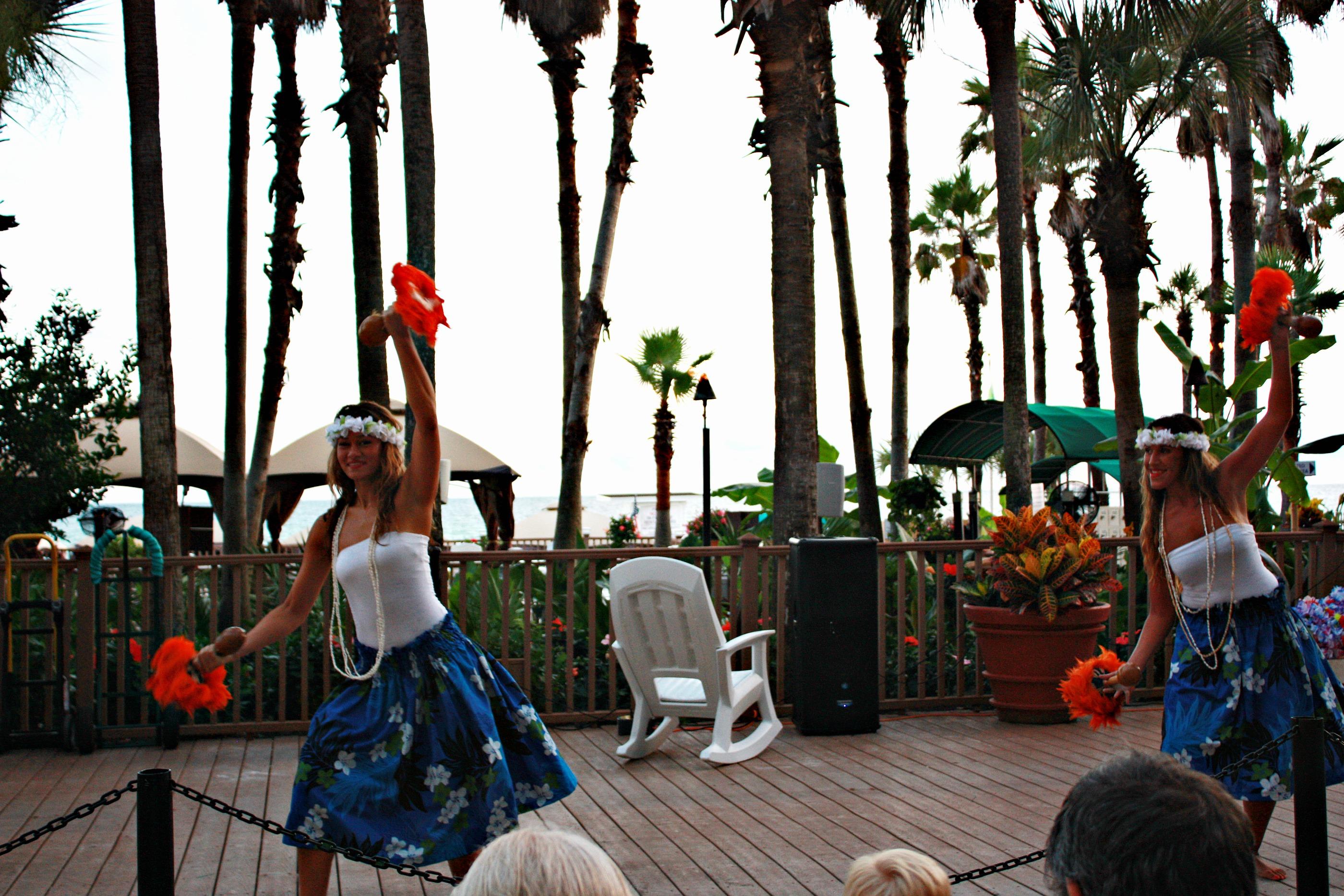 Hawaiian Dancers at Holiday Inn Resort in PCB, FL