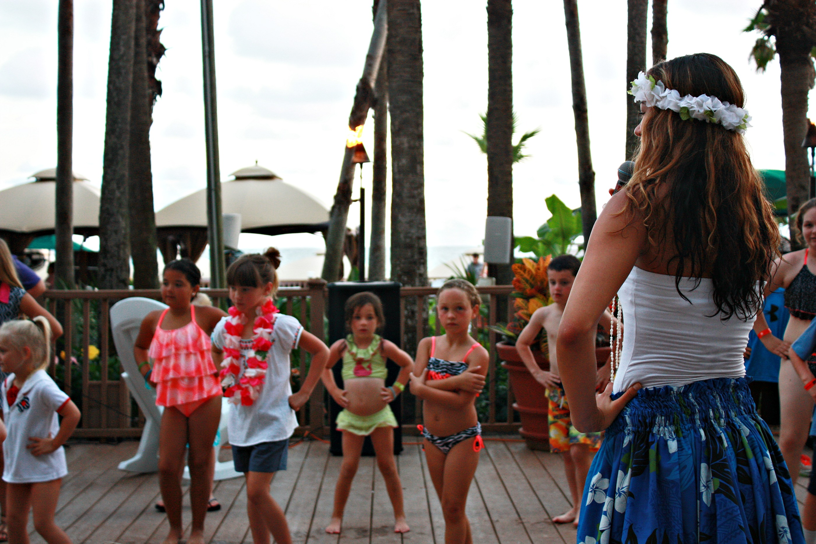 Learning to Hula Dance at the Holiday Inn Resort in PCB, FL