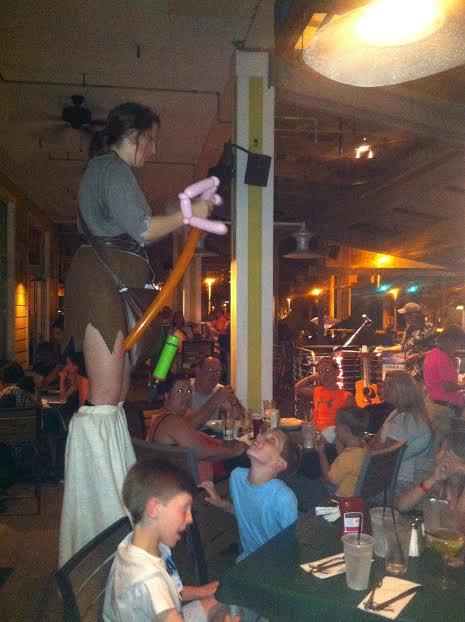 Pirate on Stilts at Margaritaville in PCB, FL