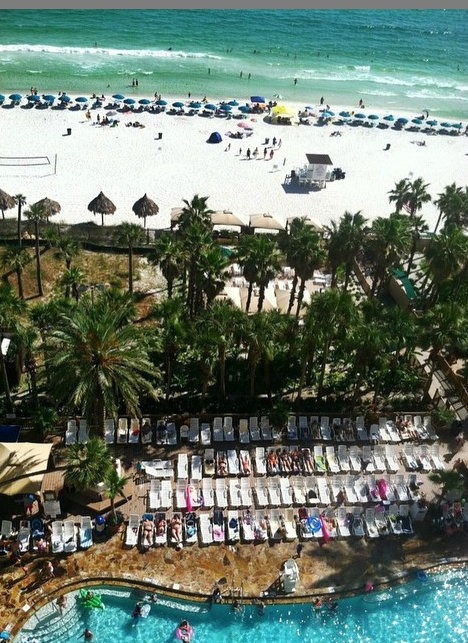 View from Holiday Inn Resort in PCB, FL