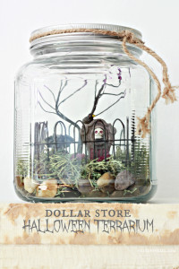 Dollar Store Halloween Terrarium