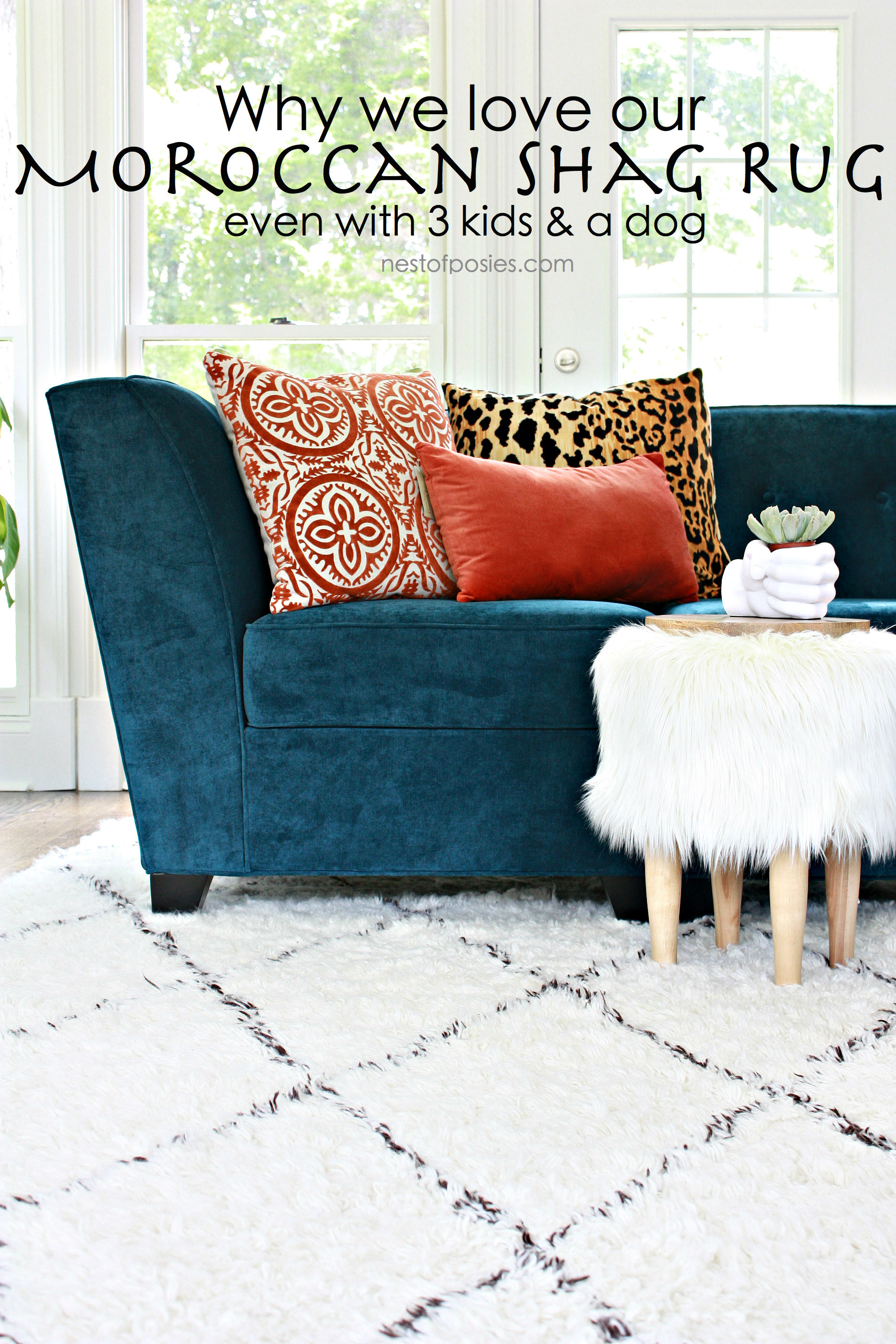 why we love our moroccan shag rug -