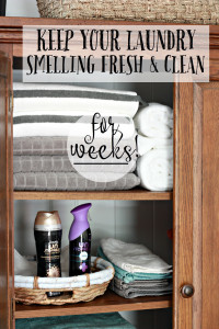 How to keep your laundry smelling clean