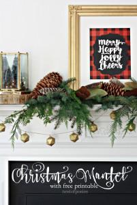 Merry Happy Christmas Mantel