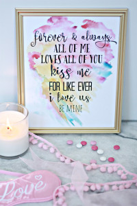 Watercolor Printable Valentine