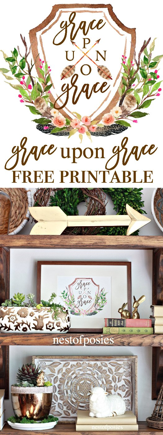Grace Upon Grace Free Printable