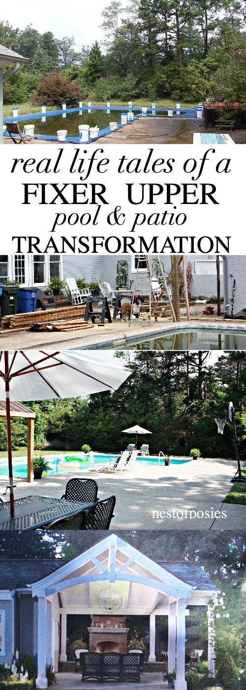 Fixer Upper Pool and Patio Transformation