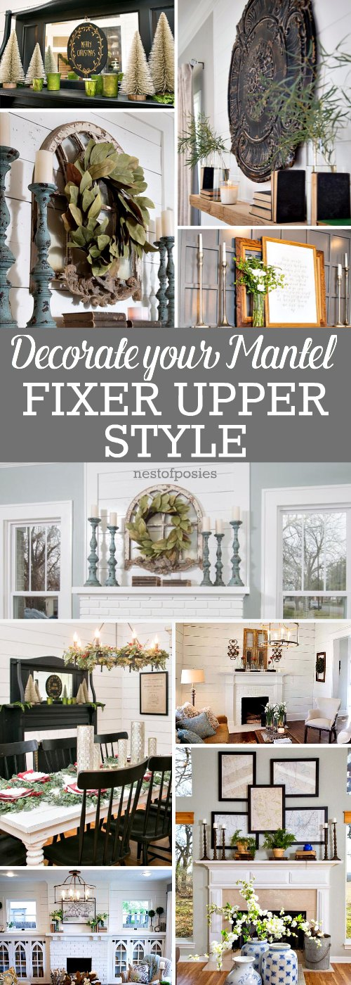 living room picture window treatment ideas - how to decorate your mantel fixer upper style Nest of Posies