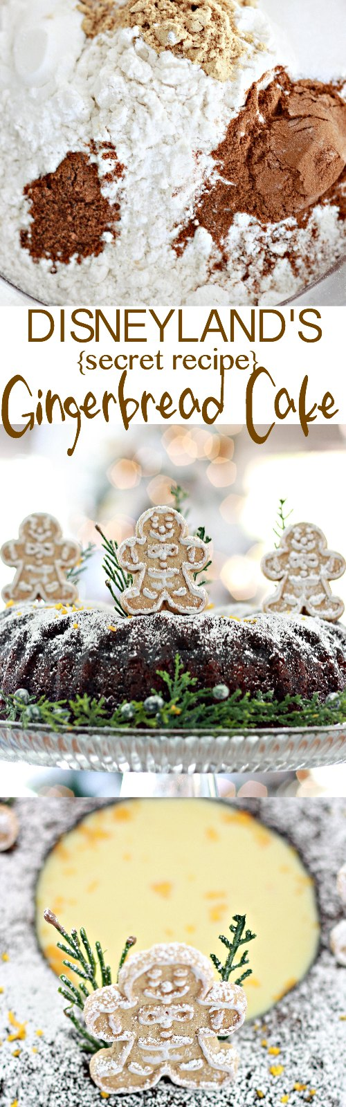 Disneyland's Gingerbread Cake with Orange Sauce Recipe